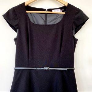 Calvin Klein classic midi black dress